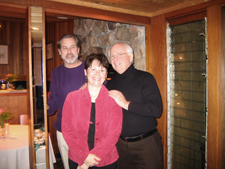 Marc & Diana in Seattle with artist Joseph Kinnebrew